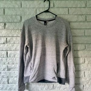 Gray Adidas Fleece Pullover Sweater